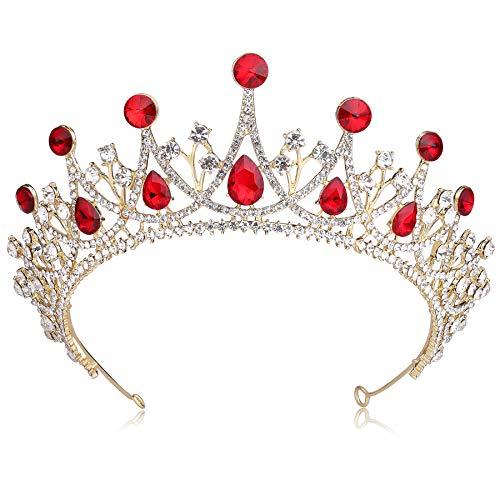 Coucoland - Tiara para novia, corona de boda, corona de princesa de...