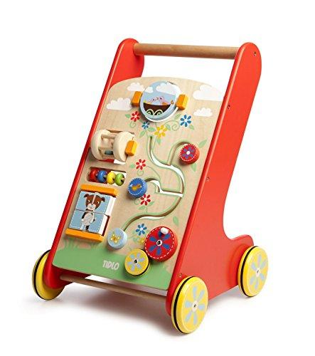 Tidlo - Chariot d'aide à la marche et d'activités, jouet en bois à partir de 12 mois