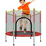 Sports Trampolin Kinder, Gartentrampolin Indoor Kindertrampolin Outdoor Trampolin Mit Sicherheitsnetz Und Randabdeckung Kinder Zum Spielen Abprallen Freisetzen Von Kindernergie