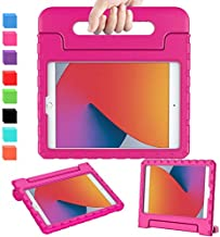 AVAWO iPad 8th & 7th Generation Case for Kids, iPad 10.2 2020 Kids Case, Light Weight Shock Proof Convertible Handle Stand Kids Friendly Case for iPad 10.2 inch 2019 & 2020 Release and Air 3 - Rose