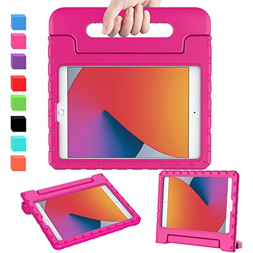AVAWO iPad 10.2 8th & 7th Generation Case for Kids, iPad Air 3 Case Kids, Light Weight Shock Proof Handle Stand Kids Friendly Case for iPad 10.2 inch 2019 & 2020 Release and Air 3 - Rose
