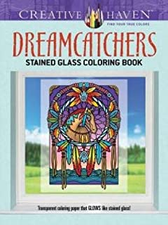 Creative Haven Dreamcatchers Stained Glass Coloring Book (Creative Haven Coloring Books)
