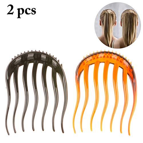 Zoylink 2PCS Peigne De Côté Pour Femmes Peigne à Cheveux Multi Usage Pour Queue De Cheval