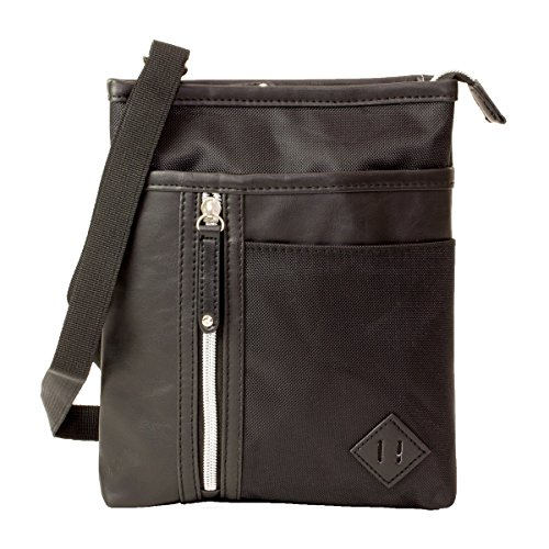 URBAN UTILITY シザーケース ミニショルダーバッグ ポケット3つ カラビナ付き ベルト通し 男女兼用 旅行 アウトドア ポーチまたは巾着袋付き ブラック MS-BB23BK