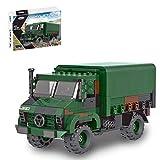Lommer Kit de modelo de tanque, 411 piezas WW2 camión militar de carga para niños adultos, bloques de construcción compatibles con Lego Technic