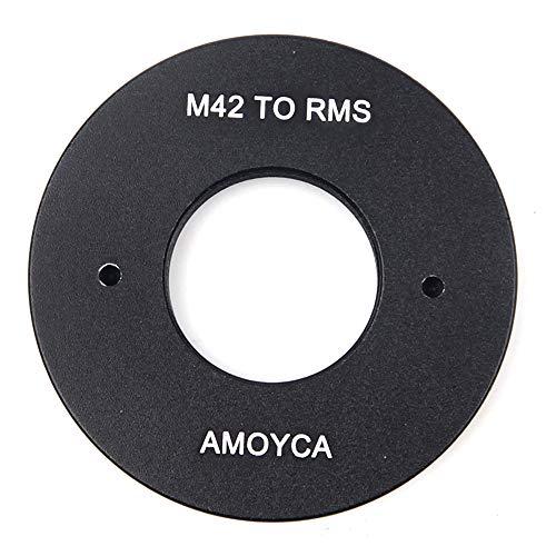 Adaptador de lente local para lente RMS Royal Microscopy Society a montura M42 (20 mm)