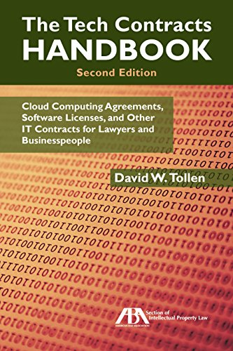 The Tech Contracts Handbook: Cloud Computing Agreements, Software Licenses, and Other IT Contracts for Lawyers and Businesspeople (English Edition)