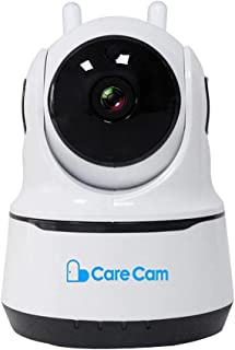 CareCam Home Security Camera 360 Degrees 1080P Indoor Security Surveillance with Night Vision Monitor with iOS, Android Ap...