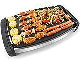 LLDKA Elektrogrill Tischgrill Smokeless Grill Temperatur einstellbar Antihaftbeschichtung 1800 Watt