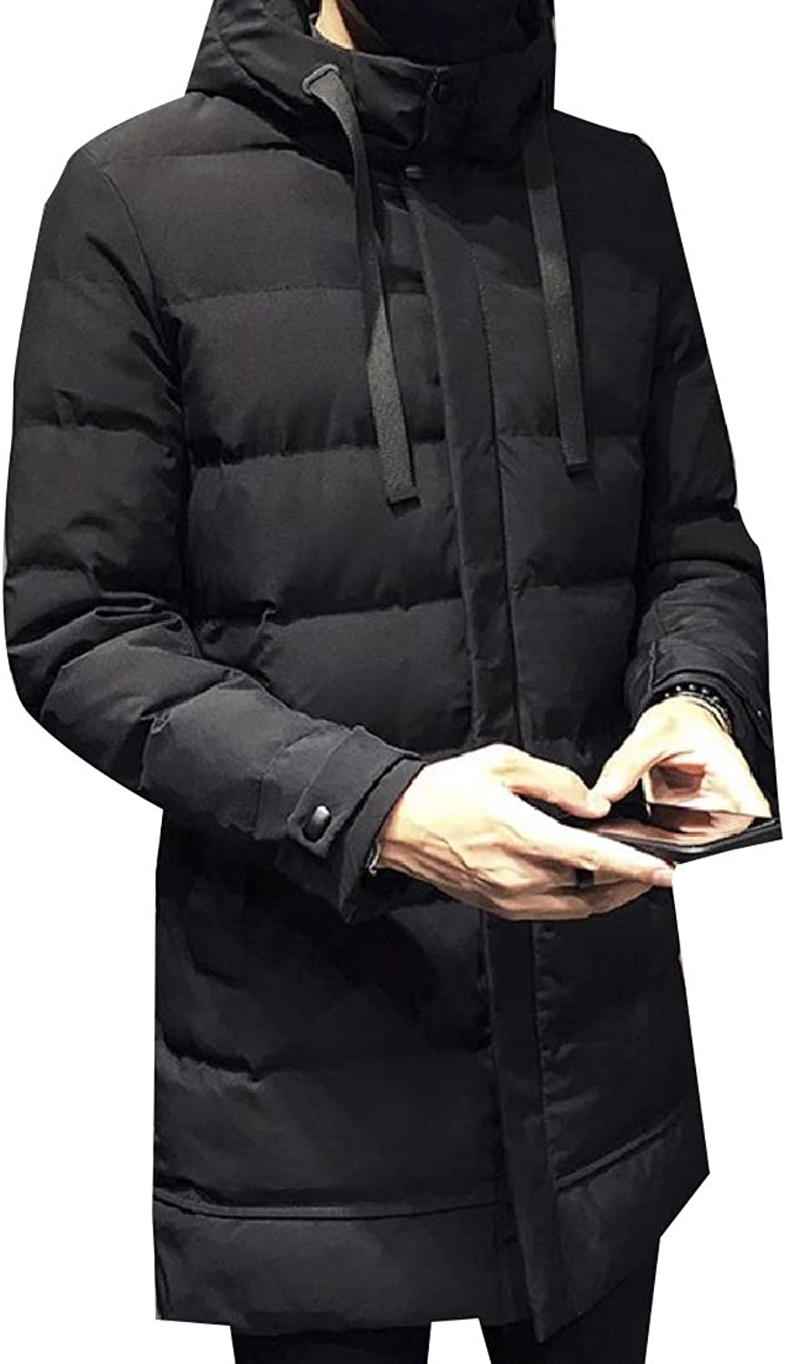 Doanpa Men Thick Zip Puffer Outwear Coat Quilted Down Padded Quilted Jacket