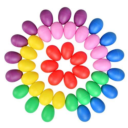 YOTINO Juego de agitador de huevos de 42 piezas Maracas - Instrumento musical - Huevos - Huevos musicales - Agitador de huevos - Agitador de huevos de plástico para niños