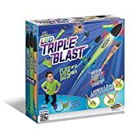 Geospace Jump Rocket LED Triple Blast with Launch Pad and 3 Foam Rockets
