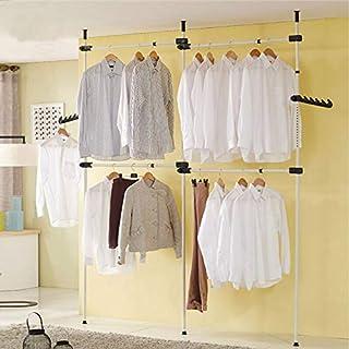 Zoternen Système de Garde-Robe Télescopique Rangement pour Vêtements et Penderies Systèmes Barres de Penderie, Hauteur et ...