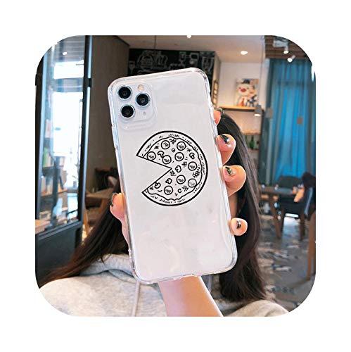 Carcasa para iPhone XS, diseño animado de Pizza con pareja clara para iPhone XS Max 11 Pro X 7 XR se 2020 8 6 Plus transparente – estilo 3 para iPhone 11