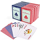 LotFancy Playing Cards, 12 Decks of Cards Bulks (6 Blue and 6 Red), Poker Size Standard Index, for Canasta, Blackjack, Euchre Card Games