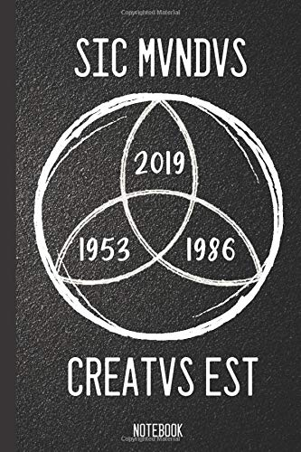 Sic Mvndvs Creatvs Est Notebook: Sic Mundus Creatus Est (Dark Cover) Creative Quotes , Inspirational Design , Blank Lined Diary & Journal 6x9