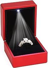 ZADAWERK® Ringbox - mit LED - Rot - Schmuck, Hochzeit, Verl