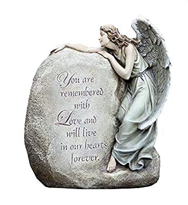 NapCo Forever in Our Hearts Memorial Angel Garden Statue