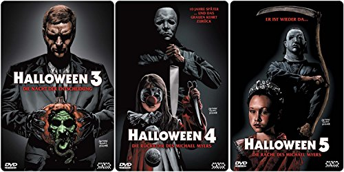 HALLOWEEN Edition Teil 3 4 5 Uncut 3D Lenticular Cover Limited STARMETALPACK / STEELBOOK Collection 3 DVD Neu