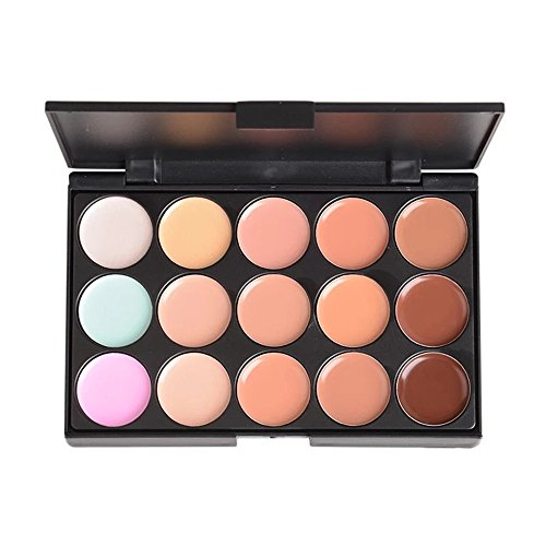 PhantomSky 15 Couleurs Palette de Maquillage Correcteur Camouflage Crème Cosmétique Set #1 - Parfait pour une utilisation professionnelle et quotidien