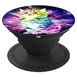 Raumgalaxie Hintergrund funnt niedliches Katze Einhorn kühl - PopSockets Ausziehbarer Sockel und Griff für Smartphones und Tablets