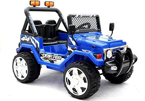 BSD Elektro Kinderauto Elektrisch Ride On Kinderfahrzeug Elektroauto Fernbedienung - Raptor 2-Sitzer - Blau