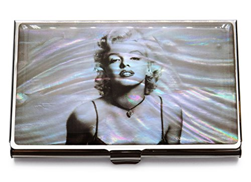 MADDesign Mother of Pearl Marilyn Monroe Business Card Case Id Holder Travel Wallet