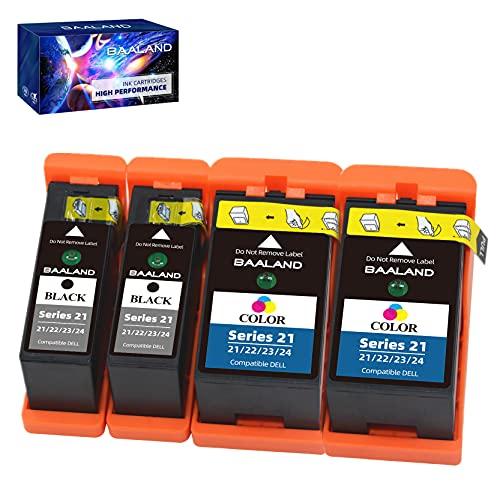 BAALAND Compatible Dell Series 21 22 23 Ink Cartridges for Dell V515w V715w P513w P713w V313 V313w Printer
