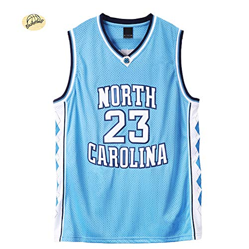 # 23 Jordan University of North Carolina Basketball Jersey,Unisex Summer Outdoor Quick-Drying Breathable Mesh Swingman Sweatshirt (S-2XL)-Blue-M