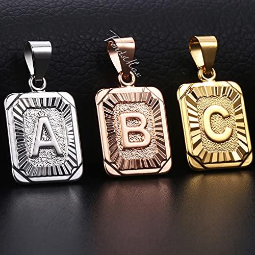 Colgante de Letras Iniciales AZ 26 Encanto para Mujeres Hombres Oro Rosa Plata Carta de Amor Regalo de joyería