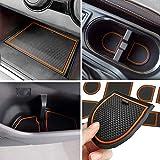 auovo Anti-dust Door Mats for 2018 2019 2020 2021 2022 Subaru Crosstrek and Impreza Accessories Interior Gate Door Liners Inserts Cup Console Mats (Pack of 14) (Orange)