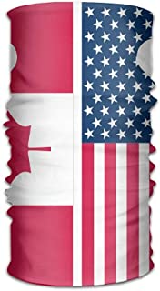 Funny Customize Head Scarf Canada And Usa Flag Seamless Running Hiking Headband Multipurpose Face Mask Outdoor Hairwraps Head scarfs for Adults Teens Headwear