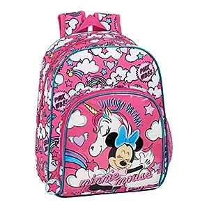 51rl5woTN8L. SS300  - Mochila Infantil de Minnie Mouse de safta 612012609, Color Rosa