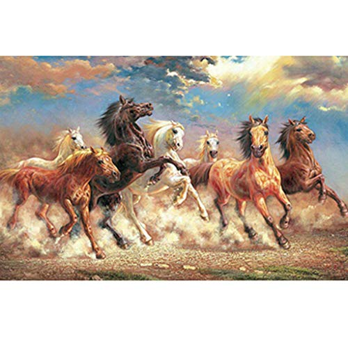 Allywit Jigsaw Puzzle 1000 Pieces for Adults, Horse - Landscape Adult Children Puzzle Puzzle Intellective Entertainment DIY Toys Learning Games Cooperative Games for Creative Gift (Multicolor)