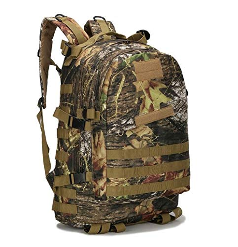 55L 3D Outdoor Sport Military Tactical Climbing Mountaineering Backpack Camping Hiking Trekking Rucksack Travel Outdoor Bag (Capacity : 50 70L, Color : Leaf Camouflage)