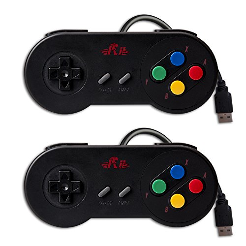 Rii Gaming GP100 - Coppia Gamepad Controller USB Super Nintendo compatibili con PC (Windows, Mac, Linux) e Raspberry Pi