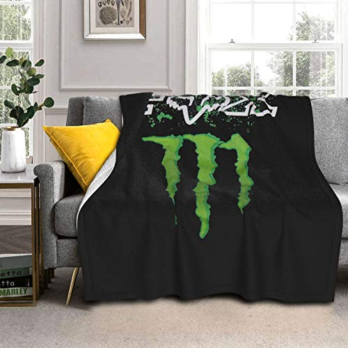 PMNADOU Blanket F_O_X and Mon-Ster E_N_E_R_G_Y Logo Ultra Warm Adult Super Soft Blanket for Couch Or Living Room Bedroom Blanket Throw for Adults & Kids