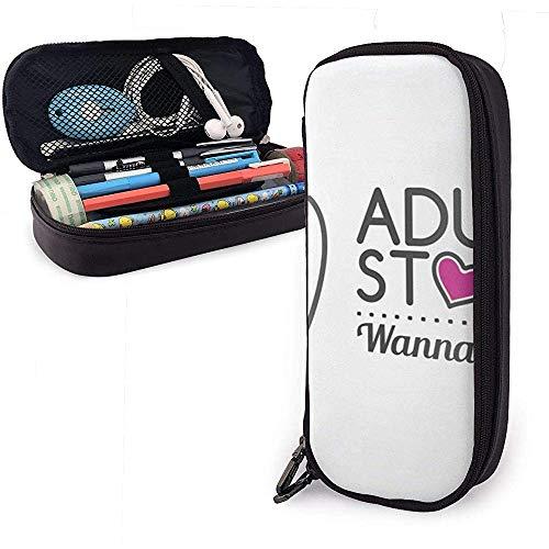 Adult Store Logo Design Cute Sex Leather Pencil Case, Pencil Bag Pouch Pen Holder Estuche estacionario