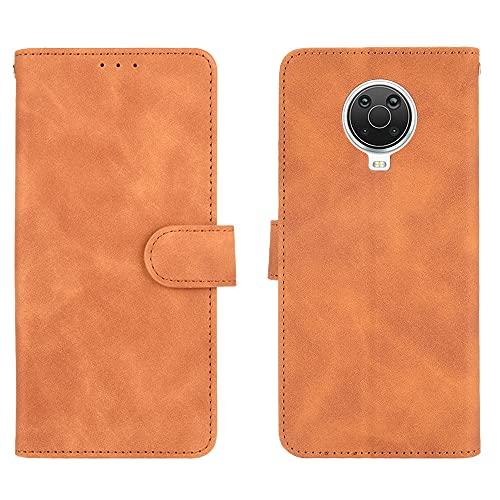 GOGME Leder Hülle für Nokia G10 | G20 Hülle, Premium PU/TPU Leder Folio Hülle Schutzhülle Handyhülle, Flip Hülle Klapphülle Lederhülle mit Standfunktion und Kartensteckplätzen, Brown