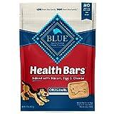 Blue Buffalo Health Bars Natural Crunchy Dog Treats Biscuits, Bacon, Egg & Cheese 16-oz Bag