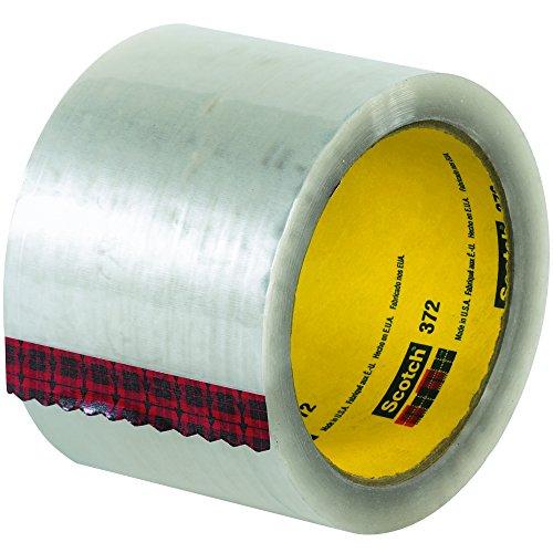 "3M 372 Carton Sealing Tape, 2.2 Mil, 3"" x 55 yds, Clear, 24/Case, 3M Stock# 7010312312"