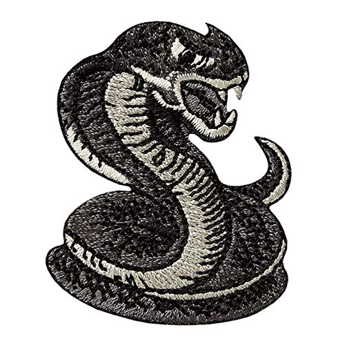 MQ Nature Wildlife - Schlange / Snake - Aufnäher Aufbügler Applikation Patch - ca. 4,5 x 5,7 cm