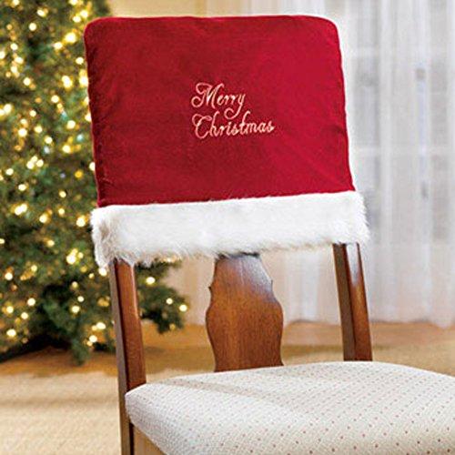 Weihnachten Stuhl Deko Hussen Abdeckung Christmas Schmuck LianLe