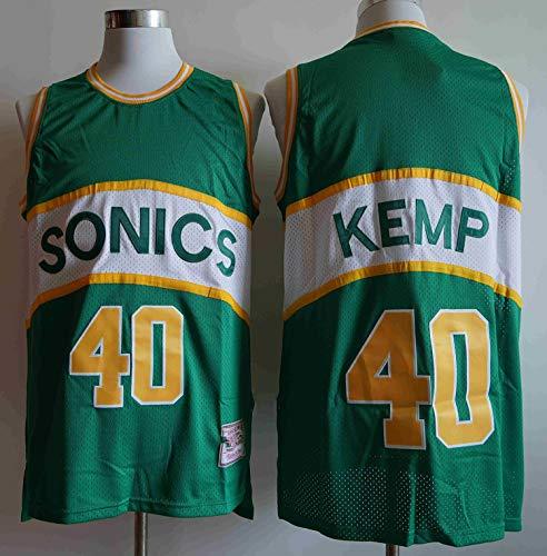 LYY Retro Jersey degli Uomini, Sonics Kemp # 40 Maglie NBA Basketball Classic Camicia Respirabile Freddo di Tessuto Sportivo T-Shirt,XL(185~190cm)