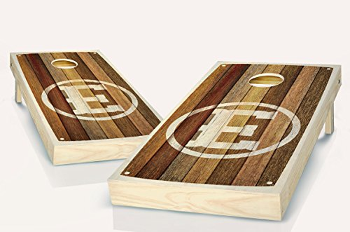 Barn Wood Monogrammed Stained Custom Cornhole Boards Regulation Size Game Set Baggo Bean Bag Toss + 8 ACA Regulation Bags