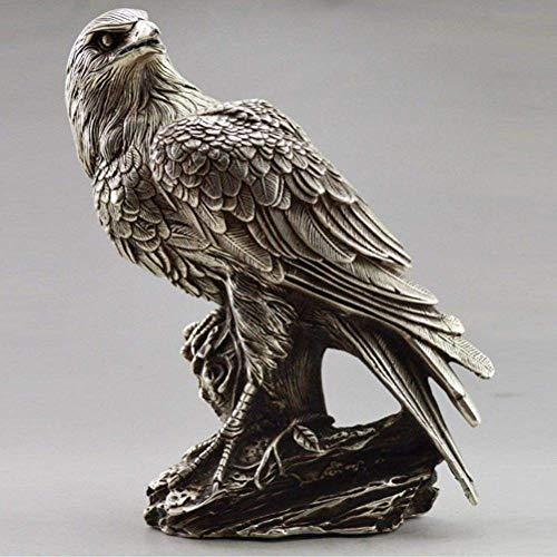 WJSW Skulptur Chinesische weiße Bronzestatuen Skulpturen Adler und Eulen, kostenlos geliefert, 1