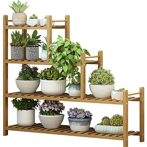 YINUO Plateau de fleurs multi-étages intérieur offre spéciale espace balcon multi-couche salon bonsaï économie bambou vert stand de fleurs