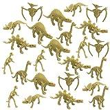 Playko 3.5 Inch Dinosaur Skeletons - Pack of 24 Dinosaur Fossils for Kids - Dinosaur Bones for Sandbox - Science Activity Plastic Fossils - Educational Dinosaur Toys - Dinosaur Theme Party Favors