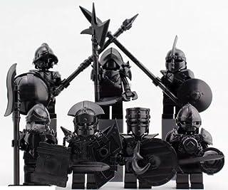 黒騎士 ミニフィグ ブラック 7体セット 槍 剣 盾 斧