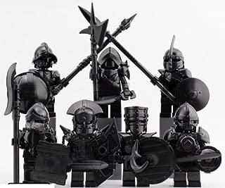 ミニフィグ 騎士 鎧 暗黒色 7体セット 武器防具付き